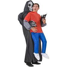 Grim Reaper Halloween Costume Inflatable Grim Reaper Illusion Costume Green Head