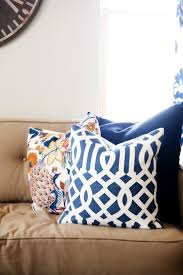 Orange Pillows For Sofa by 40 Best Fabrics And Pillows Images On Pinterest Pillow Covers