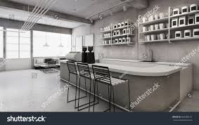 cafe shop restaurant design minimalist counter stock illustration