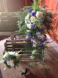 wild rustic bridal bouquet and posy perfect summer country