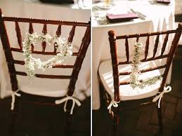 floral monogram chair decorations sweetheart table ideas