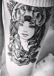 wolf on thigh designs and the meanings insigniatattoo com