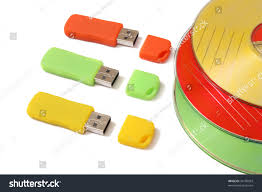 Storage Devices Digital Data Storage Devices Flash Drives Stock Photo 34199503