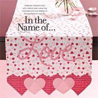 valentine s day table runner cute table runner for valentine s day craft ideas pinterest