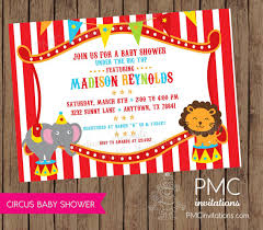 circus baby shower circus baby shower invitations 1 00 each with envelope