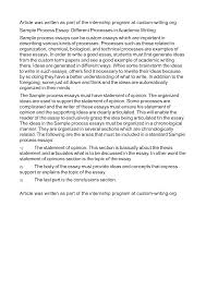 process essay thesis statement sample of a process essay toreto co