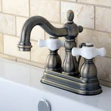Antique Brass Bathroom Sink Faucets You Ll Love Antique Brass Bathroom Fixtures