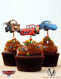 disney cars birthday party cupcake toppers images 2 5x2 8 inch digital file girl boy