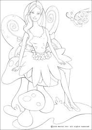 fairy barbie coloring pages hellokids