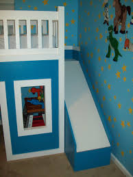 Free Plans For Bunk Bed With Stairs by Ana White Playhouse Loft Bed With Stairs And Slide Diy Projects