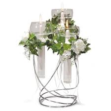 victoria lynn floating glass taper candle holder centerpiece