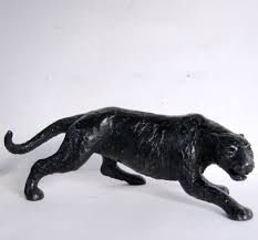 sculpture black panther sold statue by sculptor tweed in