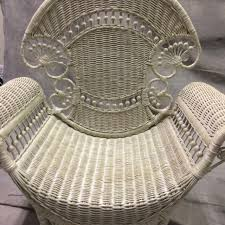 White Wicker Armchair Best White Wicker Chair By Wicker By Design For Sale In Waycross