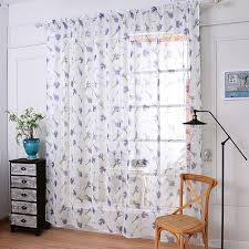 Lavender Window Curtains 2018 Soft Fabric Sheer Tulle Curtains For Bedroom Violet Lavender