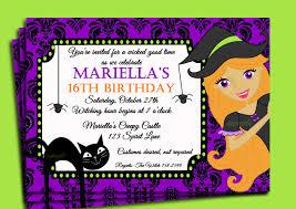 birthday invites glamorous halloween birthday invitations ideas