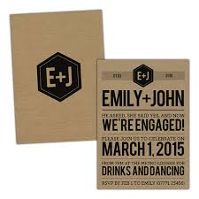 Engagement Party Invites Modern Typography Engagement Party Invitations Pack Of 10