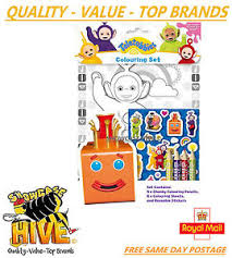 cbeebies teletubbies 3d colouring childrens activity stickers