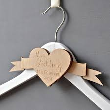 wedding dress hanger personalised engraved wedding dress hanger by clouds and currents