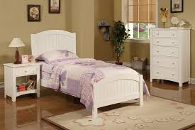poundex twin bed white solid wood f9049