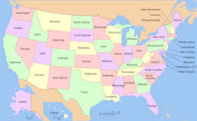 on a map us state us state map of the united states of