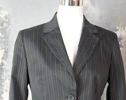 pinstripe jacket etsy