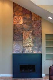 Copper Walls Artisan Iron Copper Wall Fireplace Mantle