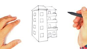 how to draw a building step by step building drawing lesson