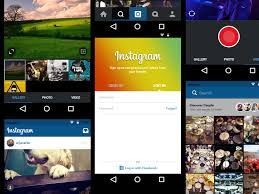 instagram for android instagram for android ui sketch freebie free resource