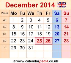 calendar december 2014 uk bank holidays excel pdf word templates