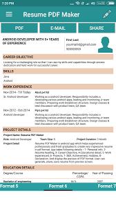 resume pdf maker cv builder android apps on google play subject for sending resume through mail 5982