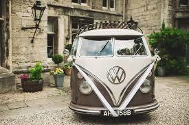 van volkswagen pink rustic marquee wedding at mallard grange in yorkshire with a dusty