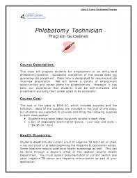 sle resume for phlebotomy with no experience phlebotomy tech no experience resume resume template exle