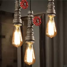 Vintage Industrial Light Fixtures Loft Style Water Pipe Ls Retro Pendant Light Fixtures Vintage