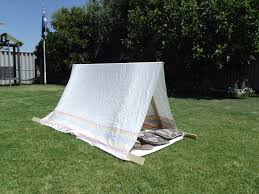 backyard play project ideas rug tent