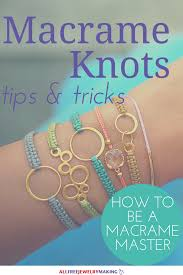 make bracelet macrame images How to macrame 7 must know knots png
