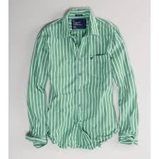 ae men u0027s striped shirt green xlt american eagle outfitters