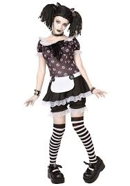 Sally Halloween Costume Size Size Gothic Rag Doll Costume