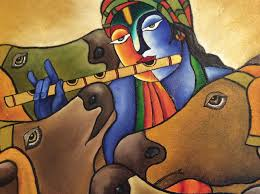 Mural Painting On Canvas by Krishna Mural Oil On Canvas U2013 Homeshantihome