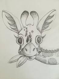 baby giraffe sketch print giraffe pencil sketch by nikiink on