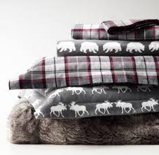 lodge plaid flannel duvet cover