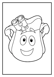 100 dora template coloring dora the explorer coloring page