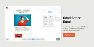 pattern library mailchimp landing page from mailchimp triggers zurb library