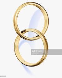 interlocked wedding rings two interlocked wedding rings stock photo getty images