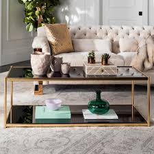 safavieh zola glass gold coffee table mmt6000b home depot