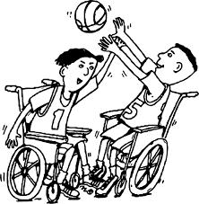 basketball wheelchair playing basketball coloring page