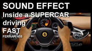 Ferrari 458 Interior - ferrari 458 interior sound fast drive sound effect youtube