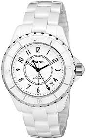 ceramic bracelet watches images Chanel women 39 s h0970 j12 white ceramic bracelet watch jpg