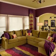 Colorful Living Room Ideas by Living Room Red Wall Paint And Grey Sofas Color Combination Of