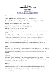 Resume In Paragraph Form Gaffer Cv