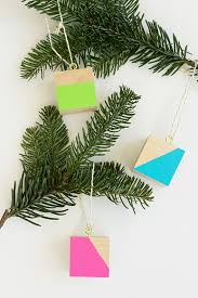 diy colorful wood block ornaments julep
